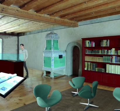 Ritterhaus Bubikon, künftige Inszenierung Stumpf-Chronik