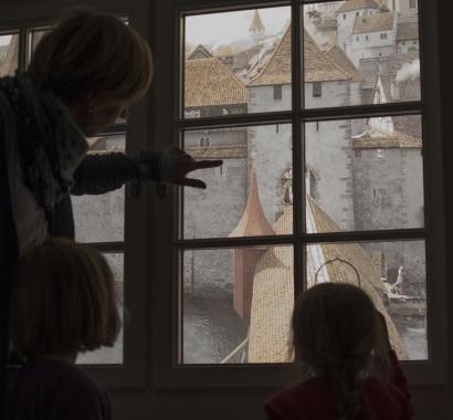 «Guten Abend Herr und Frau Landvogt» Fensterblick Detail