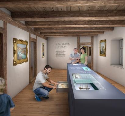 Museum Schiff Laufenburg Visualisierung: Joe Rohrer, Luzern, www.bildebene.ch