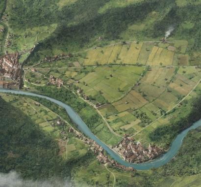 Baden um 1600 (Illustration: Joe Rohrer, Luzern und ikonaut GmbH, Brugg)