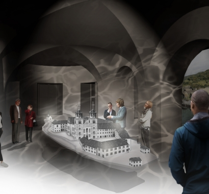 Museum Insel Rheinau Visualisierung Preshow