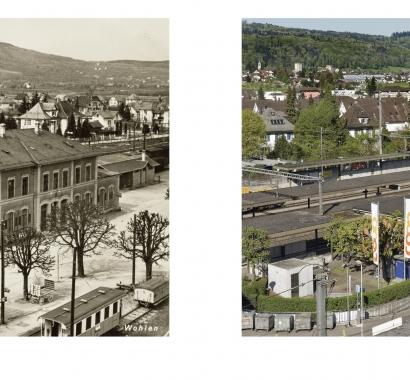 Wohlen Zeitsprünge Bildvergleich Bahnhof