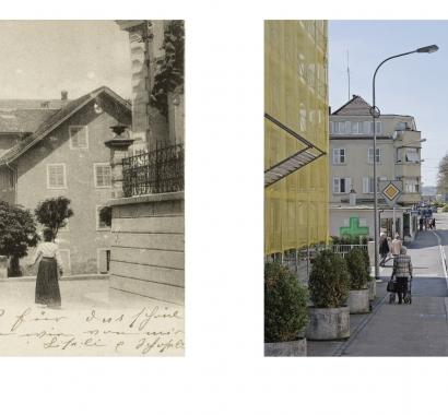 Wohlen Zeitsprünge Bildvergleich Zentralstrasse