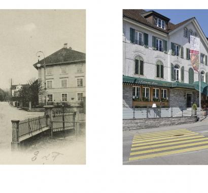Wohlen Zeitsprünge Bildvergleich Bärenplatz